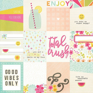 Kart do journalingu Simply Crafting - Sunshine & Happiness - 7 x 10 cm