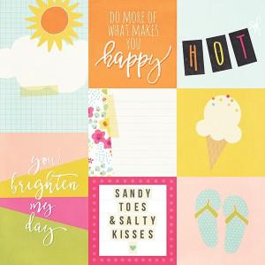Kart do journalingu Simply Crafting - Sunshine & Happiness - pionowe