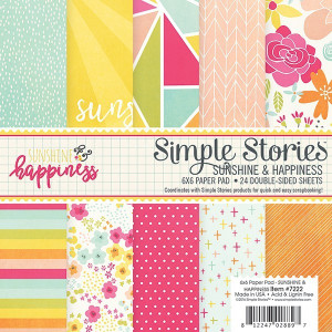 Set of papers Simply Crafting - Sunshine & Happiness - 15 x 15 cm