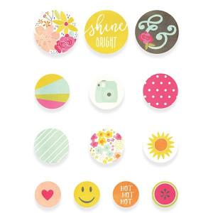 Zestaw samoprzylepnych ćwieków Simply Crafting - Sunshine & Happiness