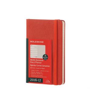 Kalendarz Moleskine 2016-2017 Orange Hard Pocket
