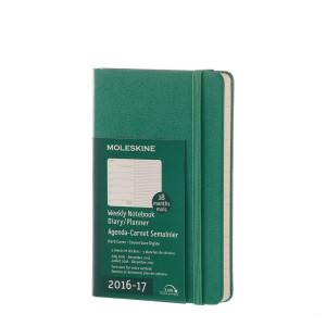 Kalendarz Moleskine 2016-2017 Green Hard Pocket