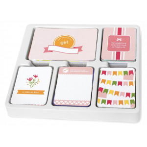 Zestaw kart Becky Higgins - Project Life - Core Kit - Baby Girl Edition