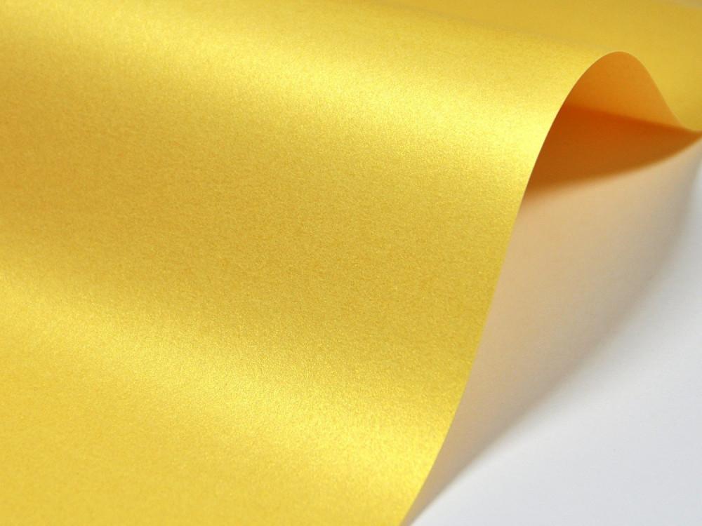 Papier Majestic 250g - Mellow Yellow, żółto-złoty, A4, 20 ark.