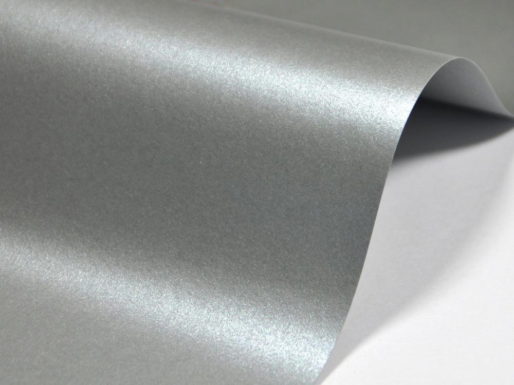 Papier Majestic 120g - Moonlight Silver, srebrny, A4, 20 ark.
