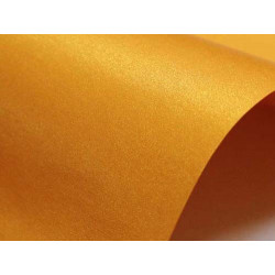 Sirio Pearl Paper 125g - Orange Glow, A4, 20 sheets