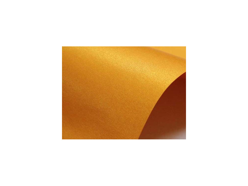 Papier Sirio Pearl 125g - Orange Glow, pomarańczowy, A4, 20 ark.