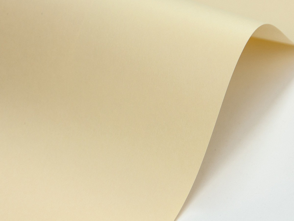 Papier Sirio Color 115g - Paglierino, waniliowy, A4, 20 ark.
