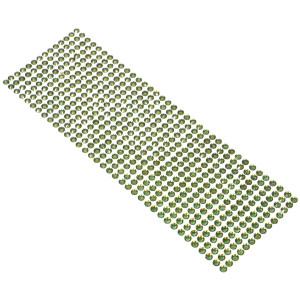Kryształki samoprzylepne 6 mm 504 szt. oliwkowe