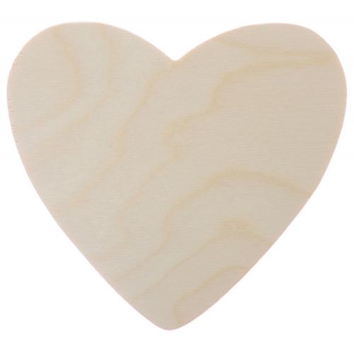 Serce pełne sklejka 10 cm drewniane