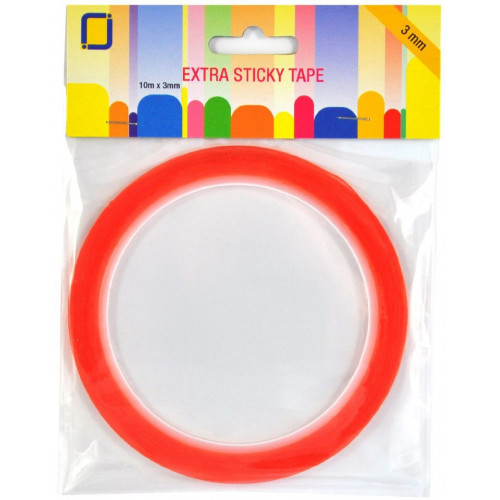 Double-sided transparent adhesive tape 3 mm x 10 m