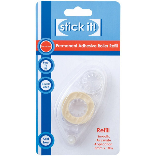 Double-sided Adhesive Refill - Stick It! - Permanent (8 mm x 10 m)