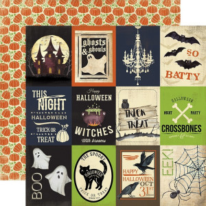 Papier Carta Bella - Haunted - Journaling Cards 3x4