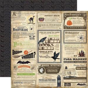 Papier Carta Bella - Haunted - Spooky Ads