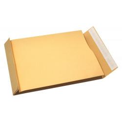 Koperty biurowe rozszerzane - E4, brązowe, 50 szt.