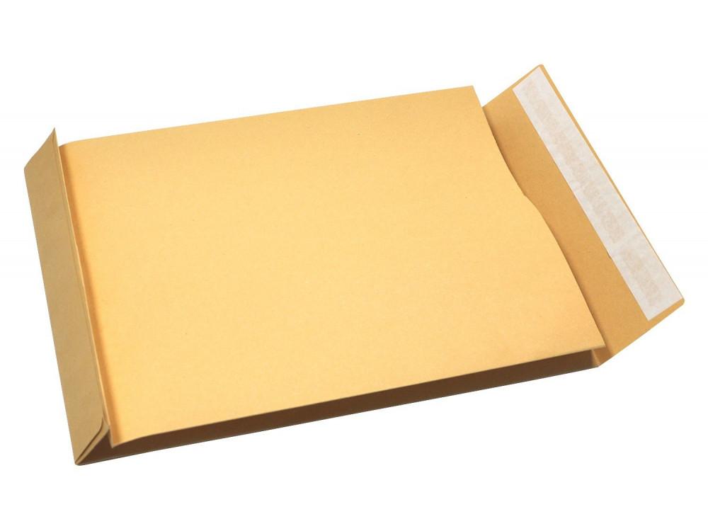 Koperty biurowe rozszerzane - B4, brązowe, 50 szt.
