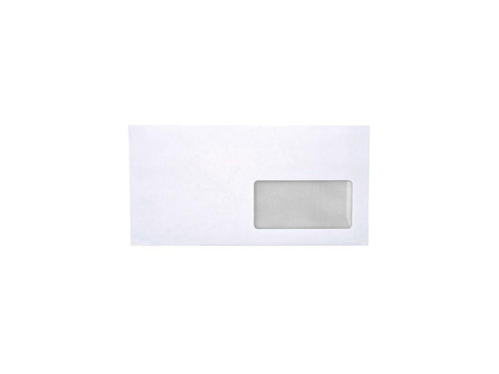 Koperty biurowe 80g DL SK prawe okno 1000 szt. białe