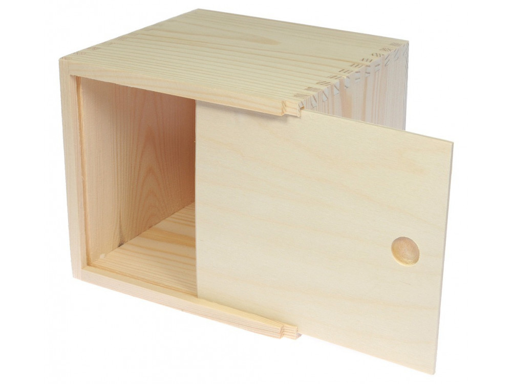 Chustecznik drewniany, wysoki - 14 x 13,5 x 14,5 cm