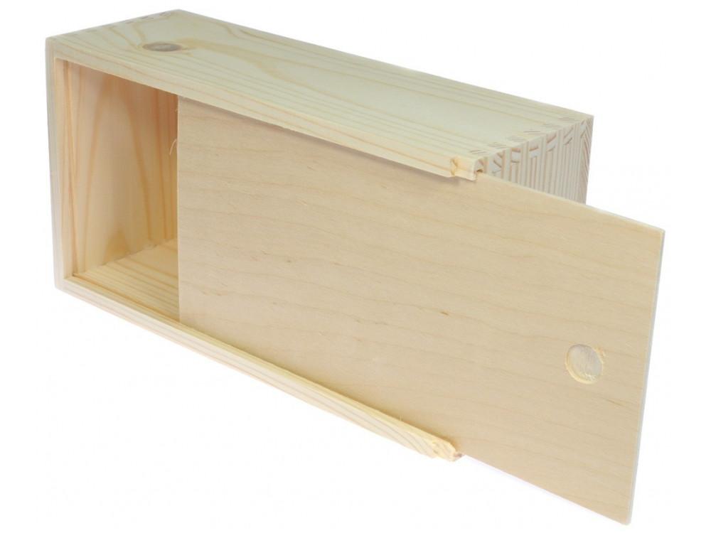 Chustecznik drewniany, prostokątny - 25,5 x 14 x 9 cm