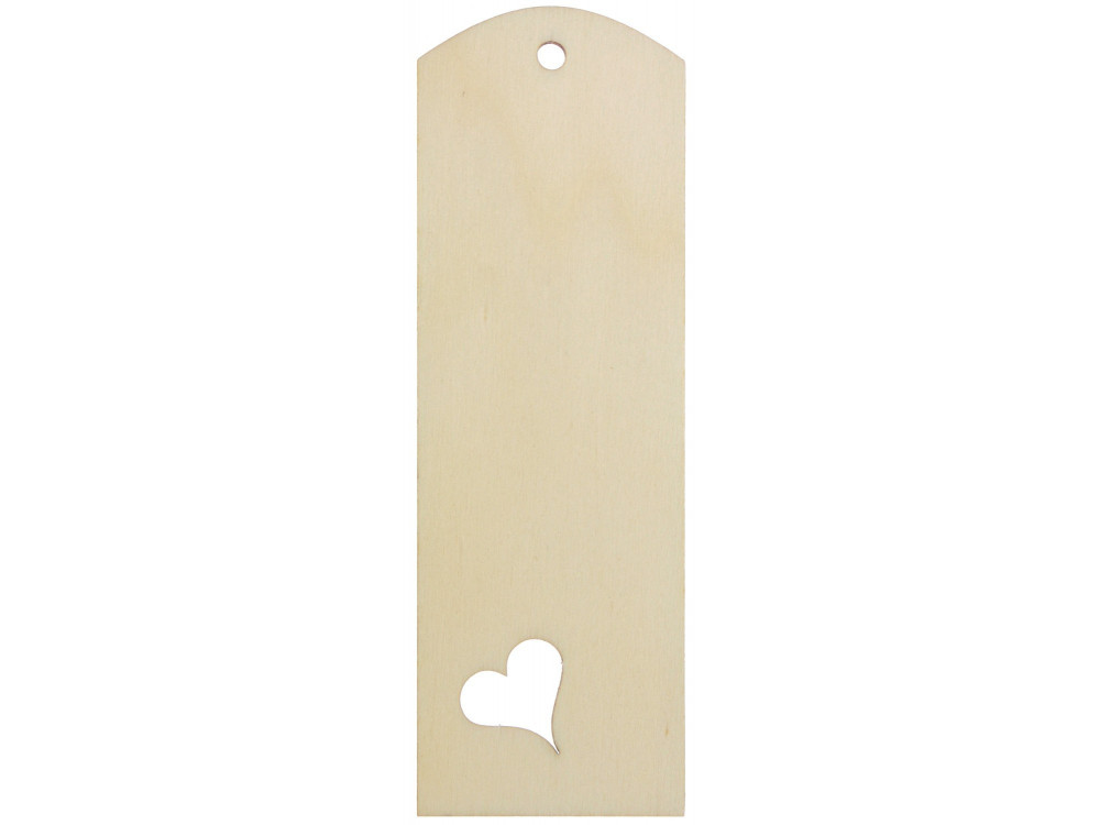 Wooden Bookmark with Heart