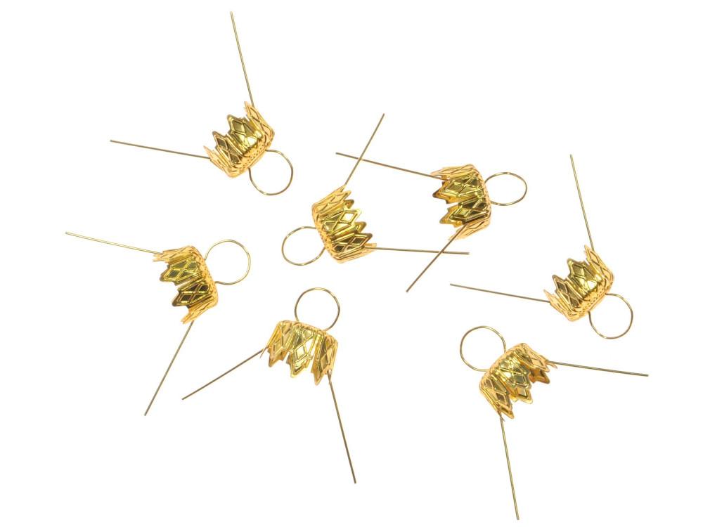 Bauble hanger - gold, 10 mm, 7 pcs.