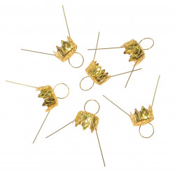 Bauble hangers - gold, 12 mm, 6 pcs.