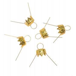 Bauble hanger - gold, 14 mm, 5 pcs.