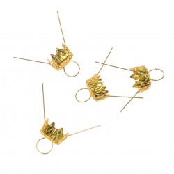Bauble hanger - gold, 18 mm, 4 pcs.