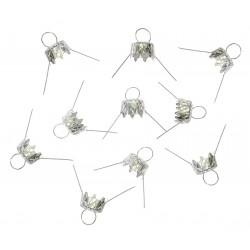 Bauble hanger - silver, 7 mm, 10 pcs.