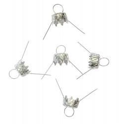 Bauble hanger - silver, 18 mm, 5 pcs.