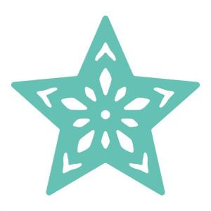Dziurkacz ozdobny ażurowy 3,7 cm - Gwiazdka
