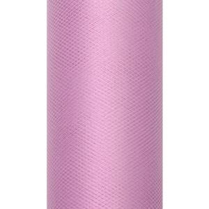 Tiul dekoracyjny 15 cm x 9 m róż pudrowy 081P