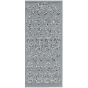 Stickers - Śnieżynki 7074 srebrny