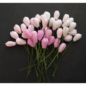 Kwiaty papierowe - Tulipany 40 szt. Mixed Pink