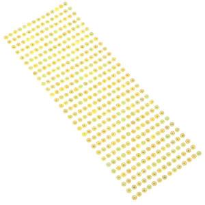 Dżety samoprzylepne 5 mm 406 szt. żółte