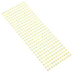 Dżety samoprzylepne 6 mm 312 szt. żółte