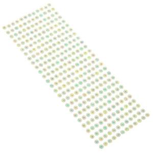 Dżety samoprzylepne 6 mm 312 szt. zielone
