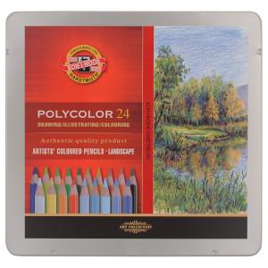 Kredki Polycolor Koh-I-Noor - Krajobraz, 24 szt.