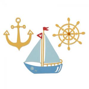 Wykrojniki Sizzix Thinlits - Shipmates 3 szt.