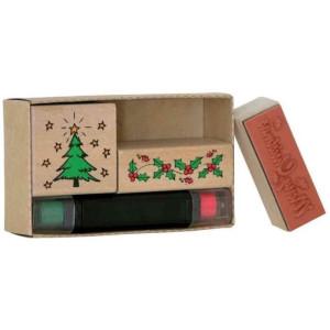 Zestaw stempli Boże Narodzenie 3 stemple + 2 poduszki