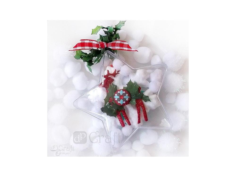 Assorted Acrylic Pompoms - DpCraft - fluffy, white, 24 pcs.