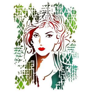 Szablon A4 Stamperia - Kobieta