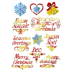 Szablon A4 Stamperia - Życzenia Świąteczne