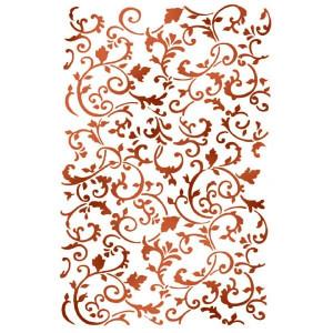 Szablon A4 Stamperia - Tekstura spirale roślinne