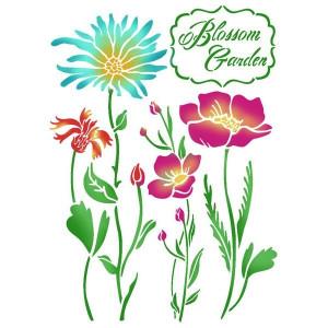 Szablon A4 Stamperia - Kwitnący ogród