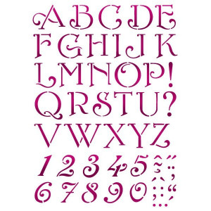 Szablon A4 Stamperia - Alfabet