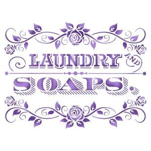 Szablon 15x20 Stamperia - Laundry Soaps