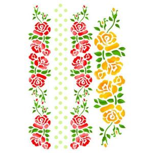 Szablon A4 STAMPERIA KSG231 róże