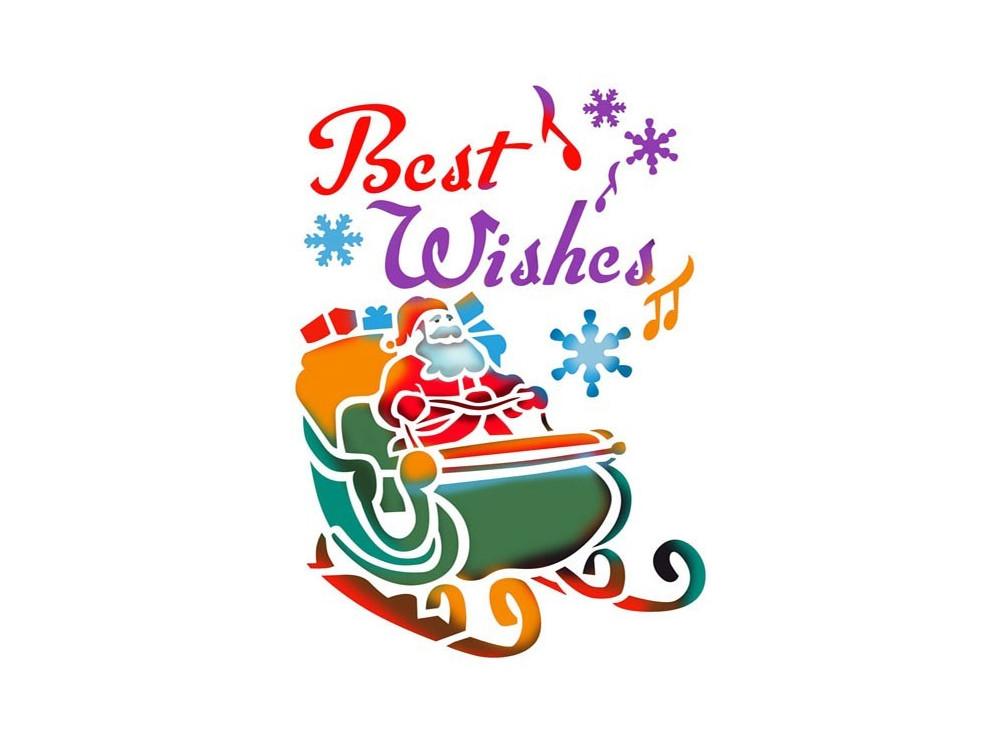 Stamperia Stencil A4 - Best Wishes