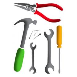 Stamperia Stencil A4 - Tools